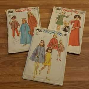 3 Vintage Kids Clothing Patterns